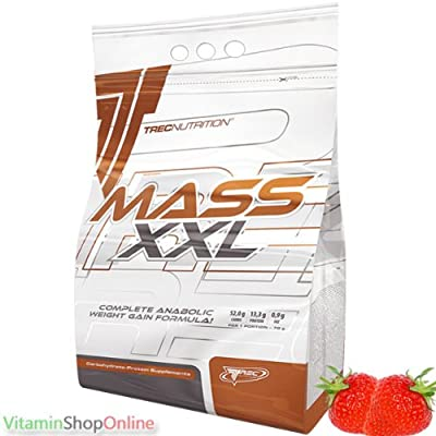MASS XXL MUTANT 1000g Strawberry MASS GAINER PROTEIN POWDER MUSCLE SIZE WEIGHT GAIN TREC FREE P&P