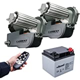 Carbest cara de Move automática de maniobra ayuda, incluye 40Ah Batería, Cargador Max Last 2250kg 1& 2achser Caravana