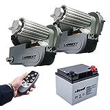 Carbest Cara-Move automatische Rangierhilfe Set inkl 40 Ah Batterie, Ladegerät max Last 2250Kg 1 &2 Achser Wohnwagen