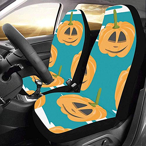Olive Croft 2PCS Pumpkin Yellow Party Celebration Nuova Protezione per coprisedili Auto con Attacco Automatico Univers