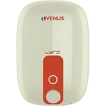Venus Lyra 25R 25 LTR Vertical Storage Water Heater (Ivory/Orange)