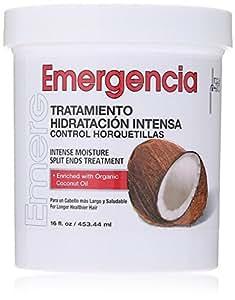 Masque capillaire à l'huile de noix de coco Toque Magico Emergencia – Soin hydratation intense pour pointes fourchues - Enrichi avec de l'huile de noix de coco bio et du Panthénol – pour des cheveux plus longs et en meilleure santé