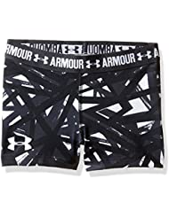 Under Armour Printed Armour Shorty Shorts, Girls, Blanco (White), YXS