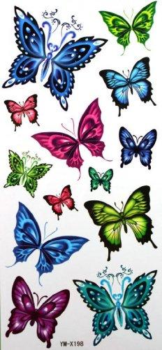Spestyle impermeabile tatuaggio temporaneo non tossico stickerswaterproof temporaneo tatuaggi sexy in movimento farfalla