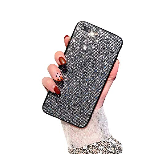 BUY-TO Ultra dünner Fall für iPhone Fashion Shining Diamond Full Cover für iPhone 6 6s 7 8 Plus X XR XS max,Gray,7P/8plus