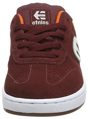 Etnies Lo-Cut, Chaussures de Skateboard Mixte Enfant Rouge (burgundy)