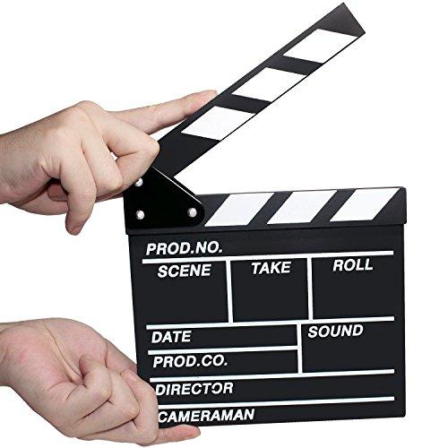Veewon Holz Direktors Filmklappe Film Regieklappe Schiefers Tafel Klöppel Bord, 7,8
