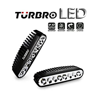 TURBRO 2 Pack 7 '' 40W OSRAM Combo LED Arbeitslicht Spreader Light Deck / Marine Lichter für Boot schwarz