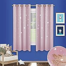 cortinas habitacion juvenil cortinas decorativas rosado con estrellas pony dance cortinas opacas modernas decor para ventanas puertas dormitorio - Cortinas Habitacion Juvenil