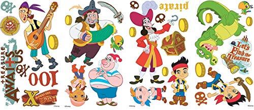 RoomMates RM - Disney Jake und die Piraten Wandtattoo, PVC, bunt, 29 x 13 x 2.5 (Disney Jake Und Die Neverland Piraten)