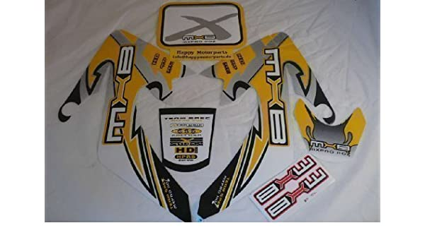 HMParts Pitbike Dirtbike Top Aufkleber  Set  X Rot