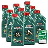 9x 1 L = 9 Liter Castrol Magnatec Diesel 5W-40 DPF Motor-Öl inkl. Ölwechsel-Anhänger