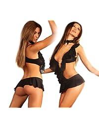 Livia Corsetti Mode Lingerie sexy Nicole Corps et ras du cou, Noir, Small/Medium