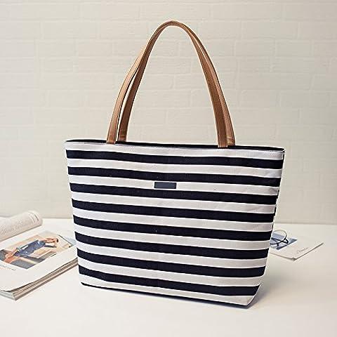 GUMO-Sac de plage, sac en toile, de grande capacité, bande, croix diagonale pack, sac à bandoulière unique,stripe