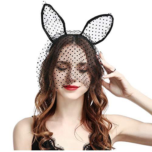 er-Haar-Band-Neuheit-Katze-Ohr-Stirnband Sexy Spitze-Stirnband Halloween Haar-Zusatz für Damen ()