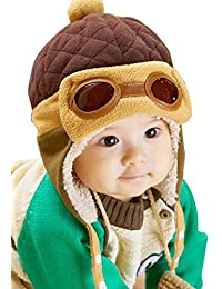 ALCYONEUS Baby Kids Girls Boys Owl Shaped Cap Winter Knitted Warmer Beanie Hat Scarf Set
