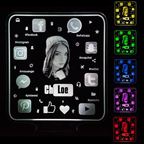 Sozial Geschenk Fur Sie Personalisiert mit Foto Name Nachtlich 16 Farben