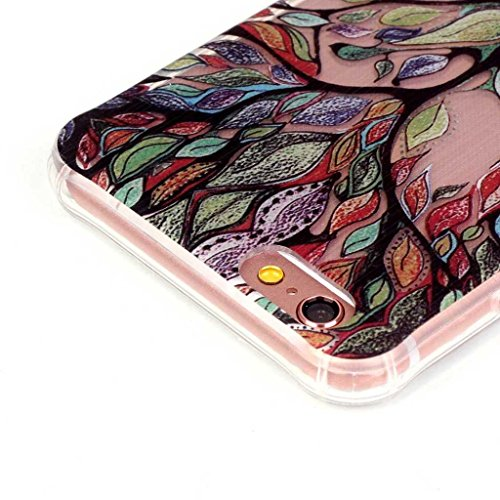 PowerQ Bubble Blase Serie Drop Proof Tropfen Anti Widerstand buntes Muster TPU Case Hülle < Butterfly skirt girl | für IPhone6SPlus IPhone 6SPlus 6Plus IPhone6Plus >            Corner Gassack Blase Stoßstange Ai Colorful Tree