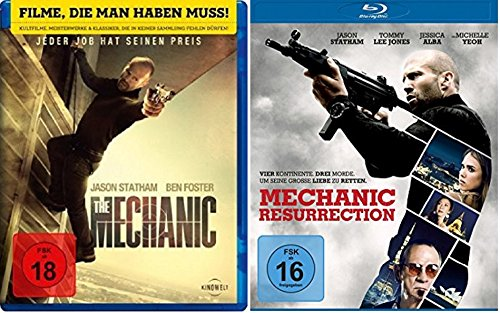 Blu-ray Set * The Mechanic + Mechanic: Resurrection Teil 1+2