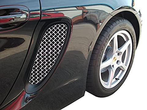 Porsche Boxster 981 - Ensemble calandre prise d'air latérale - Finition argent (2012 to 2016)