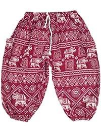 Lofbaz Niños Cordón Elefantes Boho Drawstring Pantalones