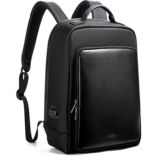Bopai Business Sac à dos Antivol pour sac à dos avec port de chargement USB Business City Sac de voyage pour ordinateur portable 39,6cm/MacBook Pro/ordinateur/ordinateur portable Sac à dos Cuir résis...