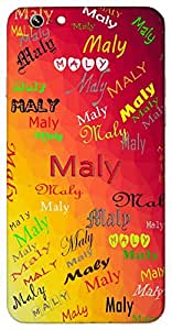 Maly (Popular Girl Name) Name & Sign Printed All over customize & Personalized!! Protective back cover for your Smart Phone : Samsung Galaxy E5
