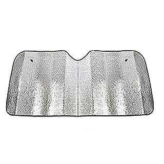 Westeng Auto Sonnenschutz Faltbare Doppelseitig Aluminiumfolie Frontscheibe Windschutzscheibe Sonnenblende 140 * 70CM