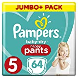 Pampers Baby-Dry Pants (Gr. 5 (12-17 kg), Windeln mit Luftkanälen) 1er Pack (64 Stück)