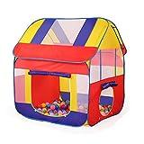 TOYMYTOY Kinderzelt Spielhaus Pop-up Spielzelt Faltbar Bällebad für Drinnen und Draußen