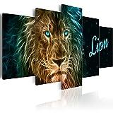 murando - Bilder 200x100 cm Vlies Leinwandbild 5 TLG Kunstdruck modern Wandbilder XXL Wanddekoration Design Wand Bild - Afrika Tiere Löwe g-A-0094-b-n