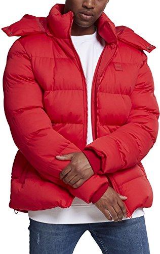 Urban Classics Herren Hooded Boxy Puffer Jacket Jacke, Rot (Fire Red 00697), XX-Large Rote Puffer