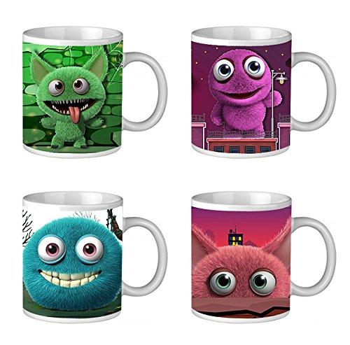 Monster Porzellan Becher 8x9,8 cm Kaffee Tee Tasse Kaffeebecher