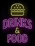 Getr?nke & Lebensmittel Neon Metall bedruckt Dose Wandschild/Plakette Bar Pub Man Cave Cool Neuheit Geschenk