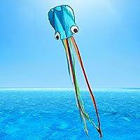VANKER Gran Cometa Para Niños y Adultos,Diseño del Pulpo,flota en la brisa,fácil de volar,liviano y estable,Construido Para Durar -- Azul