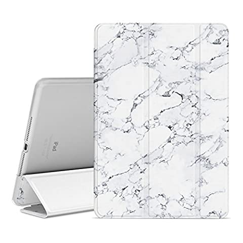 Ayotu Case for iPad Air 2,Slim Lightweight Auto Wake/Sleep Smart Stand Protective Cover Case with Translucent Frosted Back Magnetic Cover for Apple iPad Air 2 / iPad 6 2014 Model-The Marble