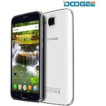 [Official Store] DOOGEE X9 Pro Smartphone, 5,5 Pollici HD IPS Display, 4G Android 6.0 Telefono Cellulari Doppia SIM - 16 GB Memoria Interna 2GB RAM - Fotocamera 8.0MP - 3000mAh Impronta Digitale Cellulare - Bianca