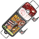 Electric Grill Hot Pot BBQ Fish Plate Multi-Funktion Zwei-In-One Electric Hot Pot Barbecue Shabu-Shabu, Barbecue 2200W Für Home Party