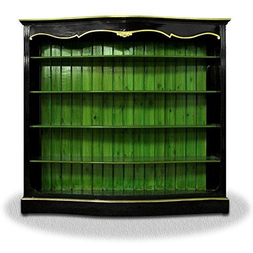 Casa-Padrino Living Room Cabinet Black Green Gold - Baroque Cabinet