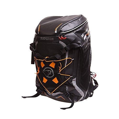 Bering Motorradrucksack Rucksack Catch 55 Liter + Helmhalter, mit Trinksystem schwar, Unisex, Tourer, Ganzjährig, Textil, schwarz