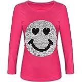 BEZLIT Mädchen Langarmshirt Wende Pailletten Lächeln 21512, Farbe:Pink, Größe:152