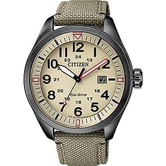 CITIZEN Reloj Analógico para Hombre de Cuarzo con Correa en Tela AW5005-12X
