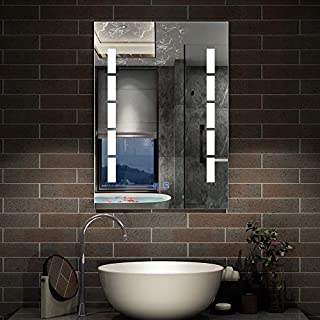 Aica 450x600mm Rectangular Backlit LED Illuminated Bathroom Mirror Wall Mirror with Light Touch Sensor