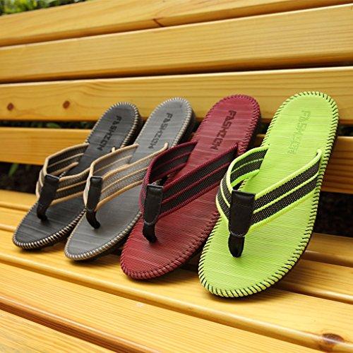 Sommer Geschlecht Hausschuhe, Paar Flip-Flops Männer Strand Herren Hausschuhe Cool Slippers Studenten Anti-Rutsch-Clip Hausschuhe G
