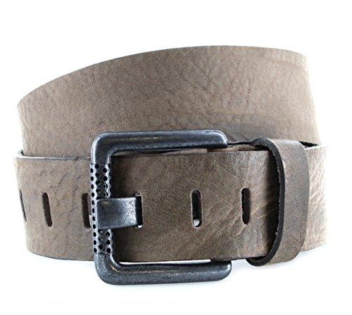 SDV vV010 &ceinture en cuir pour homme marron foncé - Marron - 80