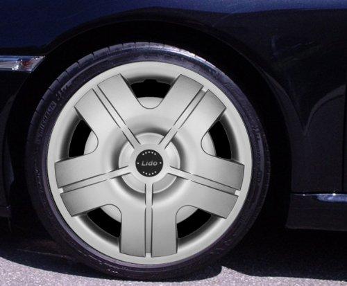 Preisvergleich Produktbild Radkappen LIDO silber 14 Zoll Ford Escort, Fiesta, Focus, Fusion, Ka, Mondeo