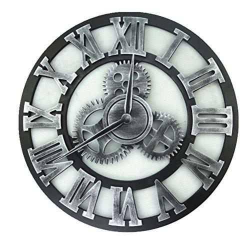 40 / 45CM Vintage MDF Kaminsims Wohnzimmer große hölzerne Wanduhren Home Küche Dekor große Uhr