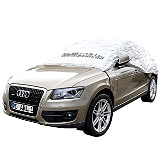 PEARL Autoabdeckung: Premium Auto-Halbgarage für SUV & Kastenwagen, 435 x 142 x 62 cm (Auto Halbgarage Sonnenschutz)