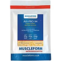 Muscleform Avi-Pro 94 Pure Whey Protein Isolate 94% 1kg Resealable Pouch - Fast Delivery - Vanilla