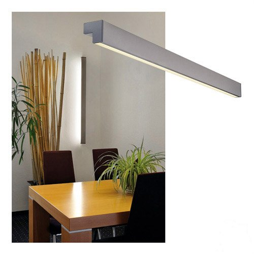 SLV L-LINE 120 Leuchte Indoor-Lampe Aluminium/Kunststoff PC Silber Lampe innen, Innen-Lampe (Deckenfluter Ist Fertig)